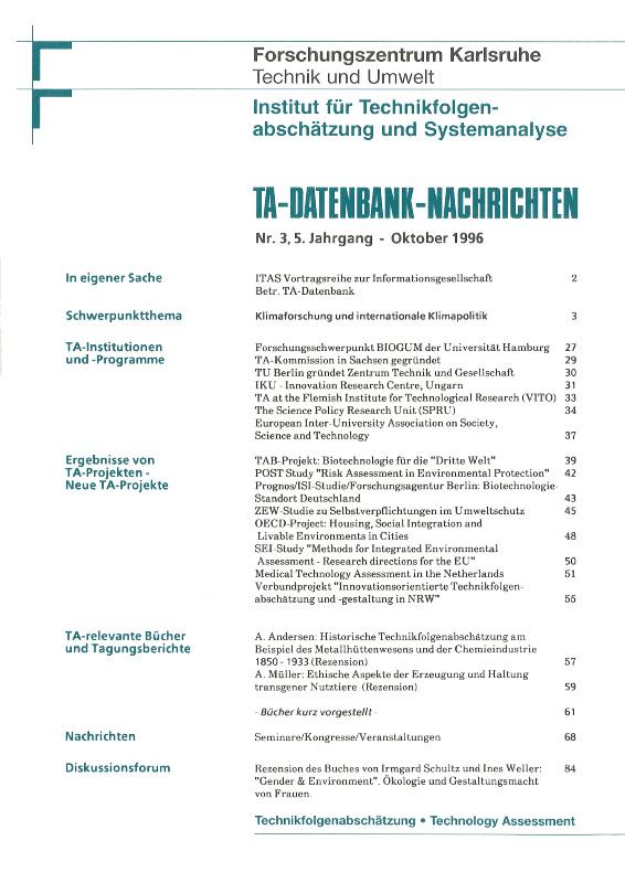 View Vol. 5 No. 3 (1996): Klimaforschung und internationale Klimapolitik