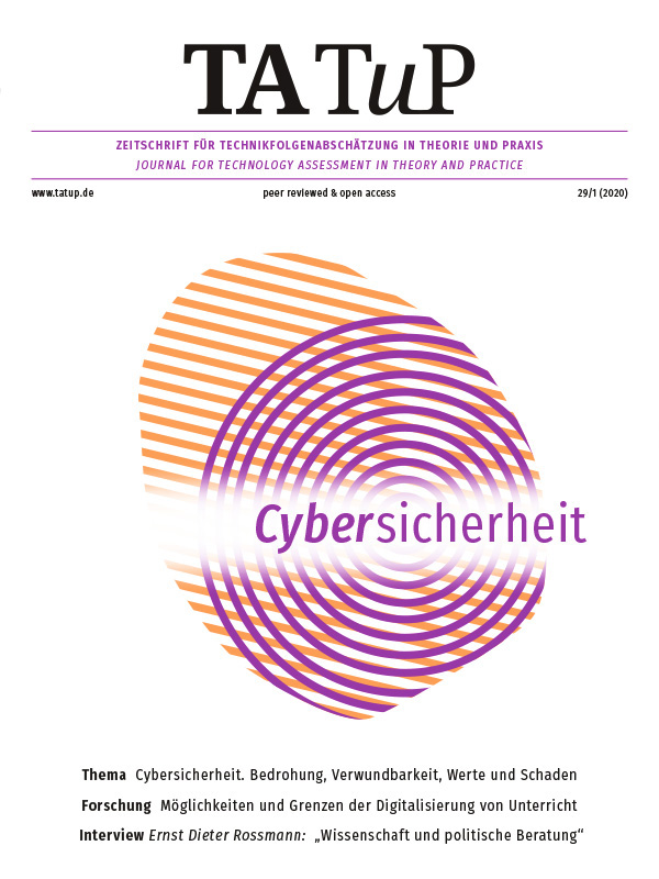 View Vol. 29 No. 1 (2020): Cybersecurity. Threat, vulnerability, values, and damage