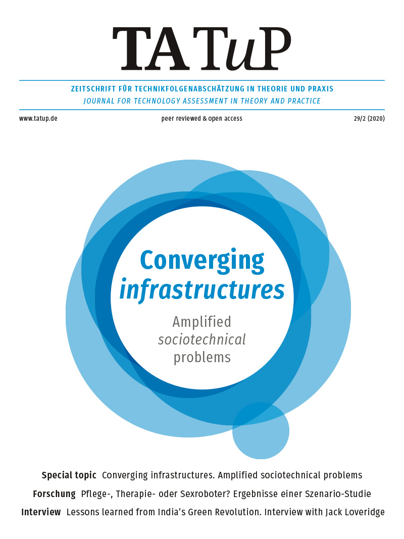View Vol. 29 No. 2 (2020): Converging infrastructures. Amplified socio-technical problems