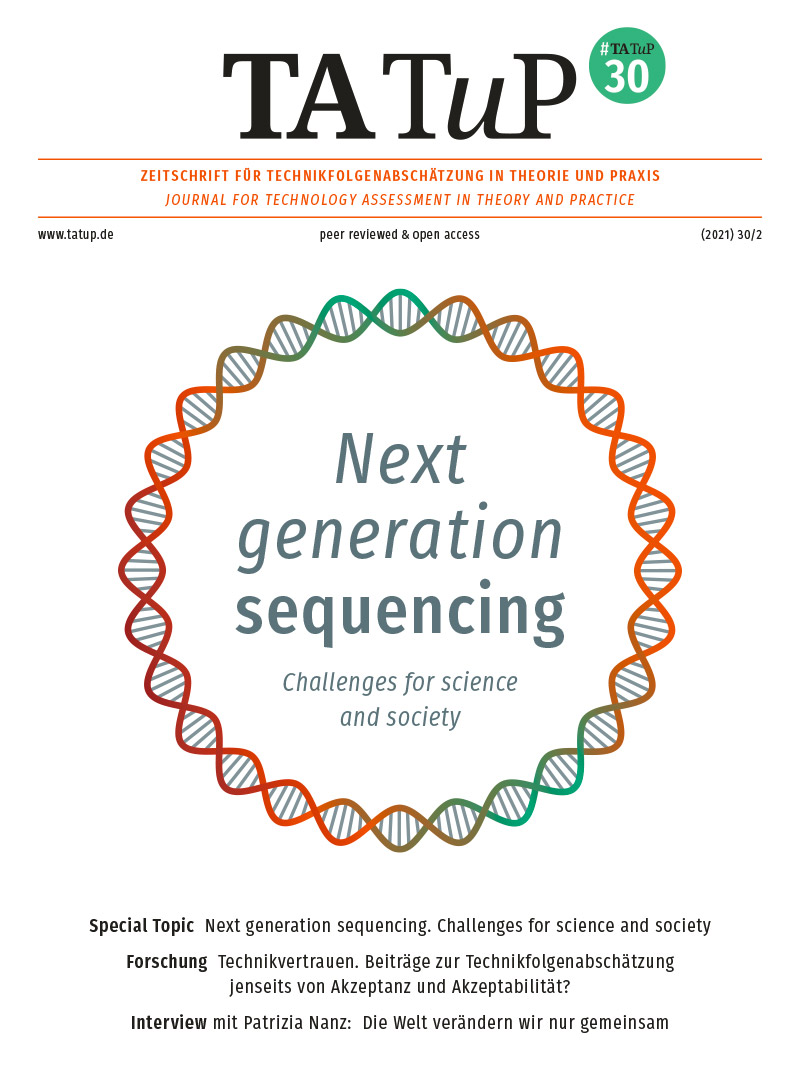 View Vol. 30 No. 2 (2021): Next generation sequencing. Challenges for science and society
