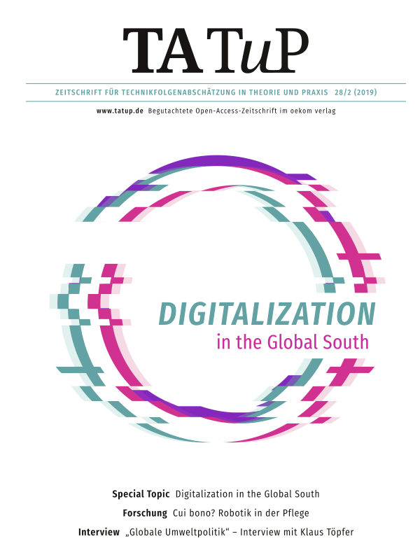 View Vol. 28 No. 2 (2019): Digitalization in the Global South